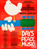 Music Memorabilia:Posters, Woodstock Music And Art Fair Original Poster (1969)...