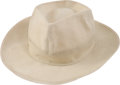 Golf Collectibles:Miscellaneous, 1945 Lotia Carr Canvas Hat from The Sam Snead Collection....