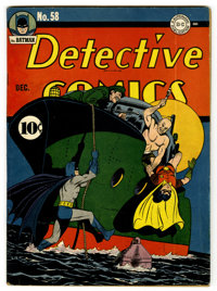 Detective Comics #58 (DC, 1941) Condition: Apparent VG. The Penguin makes his first appearance in a story drawn by Bob K...