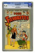 Golden Age (1938-1955):Humor, Four Favorites #32 Mile High pedigree (Ace, 1947) CGC NM 9.4 Off-white to white pages. Last issue of the title, with art by ...