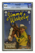 Golden Age (1938-1955):Western, Jimmy Wakely #1 (DC, 1949) CGC VF 8.0 Off-white to white pages.This issue's title character benefited from Alex Toth art, w...