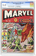 Golden Age (1938-1955):Superhero, Marvel Mystery Comics #18 (Timely, 1941) CGC VG/FN 5.0 Cream to off-white pages. The patented Alex Schomburg formula of a co...