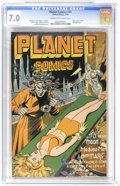 Golden Age (1938-1955):Science Fiction, Planet Comics #41 (Fiction House, 1946) CGC FN/VF 7.0 Cream tooff-white pages. Bondage cover. Lily Renee and Murphy Anderso...
