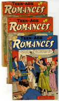 Golden Age (1938-1955):Romance, Teen-Age Romances Group (St. John, 1951-55) Condition: Average GD.Includes issues #17, #19 (2 copies), 25, and 44. Approxim...(Total: 5 Comic Books)