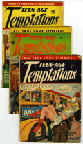 Golden Age (1938-1955):Romance, Teen-Age Temptations Group (St. John, 1953-54). Includes #2 (GD-),#3 (GD/VG), and #6 (GD, cover detached). Approximate Over...(Total: 3 Comic Books)