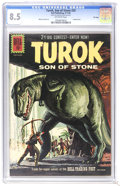 Silver Age (1956-1969):Adventure, Turok #25 Off-white pages (Dell, 1961) CGC VF+ 8.5 Off-white pages. Painted cover. Alberto Giolitti art. Overstreet 2006 VF ...