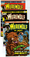 Bronze Age (1970-1979):Horror, Werewolf by Night Group (Marvel, 1974-76) Condition: Average VF/NM.13, 17, 19, 21, 23, 24, 27, 28, 29, 30, 31, 33, 34, #35 ... (Total:19 Comic Books)