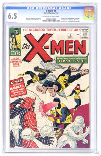 X-Men #1 (Marvel, 1963) CGC FN+ 6.5 Off-white to white pages. The origin and first appearance of the X-Men (the Angel, t...