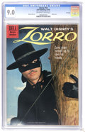 Silver Age (1956-1969):Adventure, Zorro #10 File Copy (Dell, 1960) CGC VF/NM 9.0 Off-white to white pages. Photo cover. Warren Tufts art. Overstreet 2006 VF/N...
