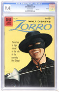 Silver Age (1956-1969):Western, Zorro #11 File Copy (Dell, 1960) CGC NM 9.4 Off-white pages. Photocover. Overstreet 2006 NM- 9.2 value = $115. CGC census 6...