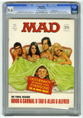 "Magazines:Mad, Mad #137 Gaines File pedigree (EC, 1970) CGC NM 9.4 Off-white towhite pages. Johnny Carson photo. ""Marcus Welby"" parody. Ja..."