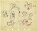 Animation Art:Animation Art, Shamus Culhane - Pluto Model Sheet Original Art (Disney, 1940s).After 1940, major Disney characters each had their own prod...