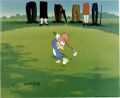 "Animation Art:Limited Edition Cel, ""Golfing Fool"" Limited Edition Hand Painted Cel Artist's Proof#4/10 Original Art (Walter Lantz Productions, 1992). Recreate...(Total: 2 Items)"