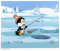 "Animation Art:Limited Edition Cel, ""Chilly's Fishing Hole"" Limited Edition Hand Painted Cel #175/200Original Art (Walter Lantz Productions, 1991). The cutest ...(Total: 2 Items)"