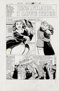 """Original Comic Art:Complete Story, Bob Powell - First Love Illustrated #33, Complete 5-page Story""""Unafraid, I Love Thee"""" Original Art (Harvey, 1953). Bob Powe...(Total: 5 Items)"""