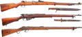 Long Guns:Bolt Action, Lot of Three Military Rifles.... (Total: 3 Items)