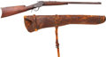 Long Guns:Single Shot, Winchester Model 1885 Low Wall Single Shot Rifle with LeatherScabbard....