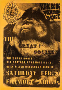 Great Society/Big Brother and the Holding Company Fillmore Auditorium Concert Poster FD-2 (Family Dog, 1966)