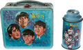 Music Memorabilia:Toys, Beatles Blue Lunch Pail and Thermos. ...