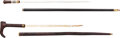 Edged Weapons:Swords, Lot of Two Wooden Cane Swords.... (Total: 2 Items)