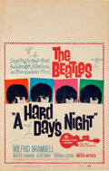 Music Memorabilia:Posters, Beatles A Hard Day's Night Theatrical Window Card Poster(United Artists, 1964)....