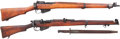Long Guns:Bolt Action, Lot of Two British Enfield Bolt Action Rifles.... (Total: 2 Items)