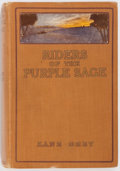 Books:Fiction, Zane Grey. Riders of the Purple Sage. Harper & BrotherPublishers, 1912. First edition, second issue, with box w...