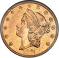 Liberty Double Eagles, 1861-O $20 VF35 PCGS....