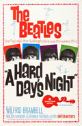 Music Memorabilia:Posters, Beatles A Hard Days Night Theatrical Poster (United Artists,1964)....