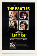 Music Memorabilia:Posters, Beatles Let It Be Theatrical Poster (United Artists, 1970)....