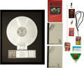 "Music Memorabilia:Awards, Metallica - An RIAA Platinum Record Award for ""...And Justice ForAll.""... (Total: 10 Items)"