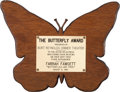Movie/TV Memorabilia:Awards, A Farrah Fawcett 'Butterfly' Award, 1980....