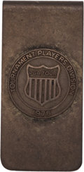 Golf Collectibles:Miscellaneous, 1976 PGA Tour Player Money Clip from The Sam Snead Collection....