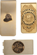 Golf Collectibles:Miscellaneous, Sam Snead Personal Money Clips Lot of 3 from The Sam Snead Collection....