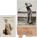 Golf Collectibles:Miscellaneous, 1925 Jim Barnes British Open Championship News Photographs Lot of 2....