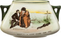 Golf Collectibles:Ceramics/Glass, Early 1900's Royal Doulton Golf-Themed Two-Handled Bowl....