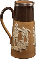 Golf Collectibles:Ceramics/Glass, 1899-1900 Doulton Lambeth Salt Glazed Stoneware With Golf Scene....