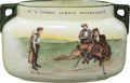 Golf Collectibles:Ceramics/Glass, Circa 1900 Royal Doulton Golf Themed Sugar Bowl....