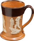 Golf Collectibles:Ceramics/Glass, Royal Doulton Golf Theme Salt Glazed Stoneware Stein....
