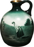 Golf Collectibles:Ceramics/Glass, Circa 1880 Bulbous Gold Washed O'Hara Dial Jug. ...