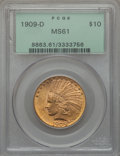 Indian Eagles, 1909-D $10 MS61 PCGS....