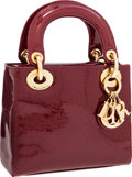 Luxury Accessories:Bags, Christian Dior Red Monogram Patent Leather Mini Lady D Bag withShoulder Strap. ...