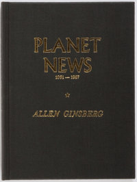 Allen Ginsberg. SIGNED/LIMITED. Planet News 1961-1967. City Lights Books, 1968. Limi