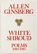 Books:Fiction, Allen Ginsberg. INSCRIBED. White Shroud Poems 1980-1985.Harper & Row Publishers, 1986. First edition. Inscribed...