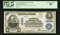 National Bank Notes:California, South San Francisco, CA - $5 1902 Plain Back Fr. 609 The CitizensNB Ch. # 12364. ...