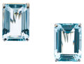 Estate Jewelry:Earrings, Aquamarine, White Gold Earrings. ...