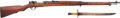 Long Guns:Bolt Action, Japanese Type 38 Arisaka Bolt Action Rifle and Bayonet....