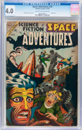 Golden Age (1938-1955):Science Fiction, Space Adventures #10 (Charlton, 1954) CGC VG 4.0 Cream to off-whitepages....