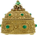 Estate Jewelry:Boxes, Emerald, Diamond, Ruby, Gold Box. ...