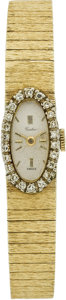Estate Jewelry:Watches, Swiss Lady's Diamond, Gold Wristwatch. ...